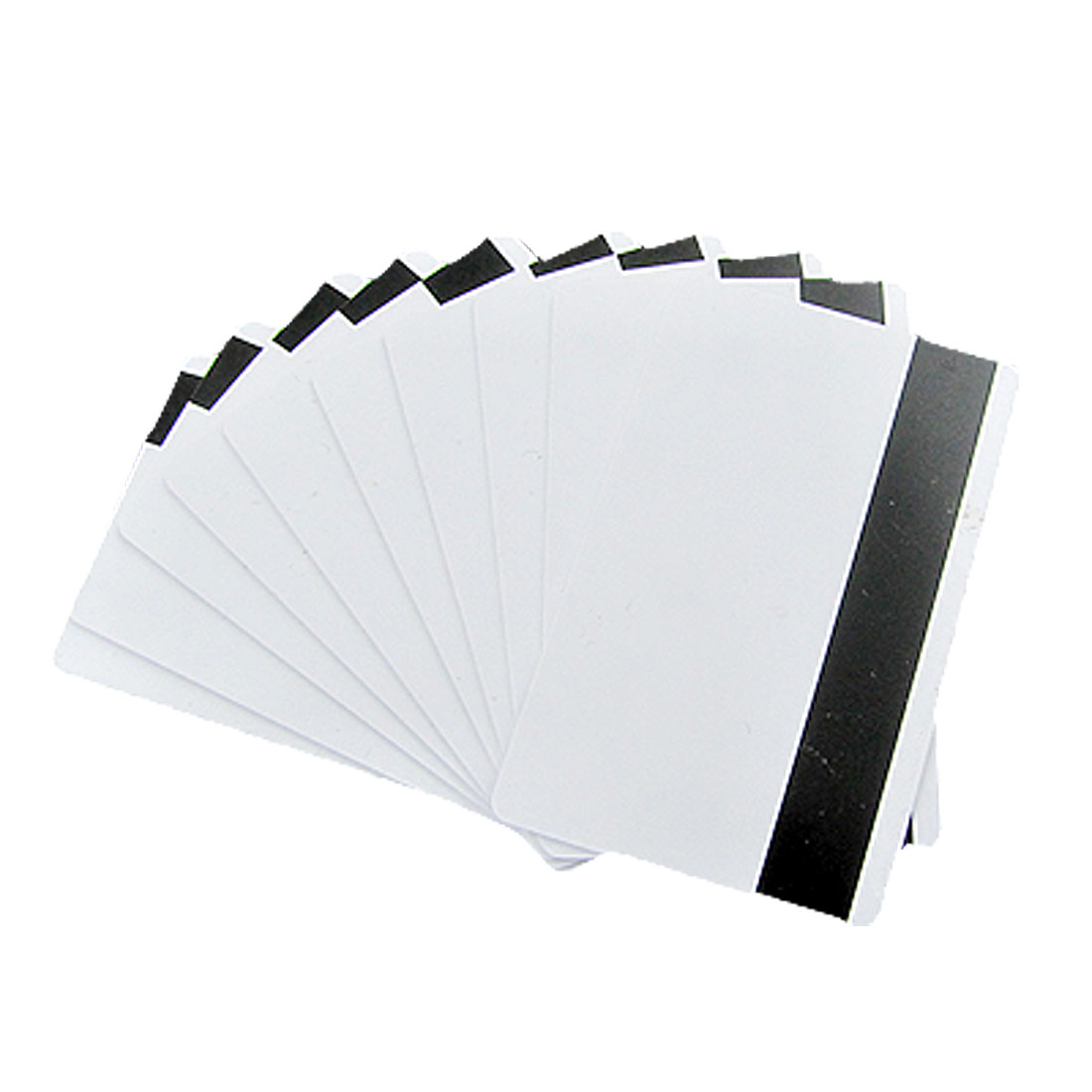 "10 Pcs 3 3/8"" x 2 1/8"" HICO Mag Strip White PVC Cards"