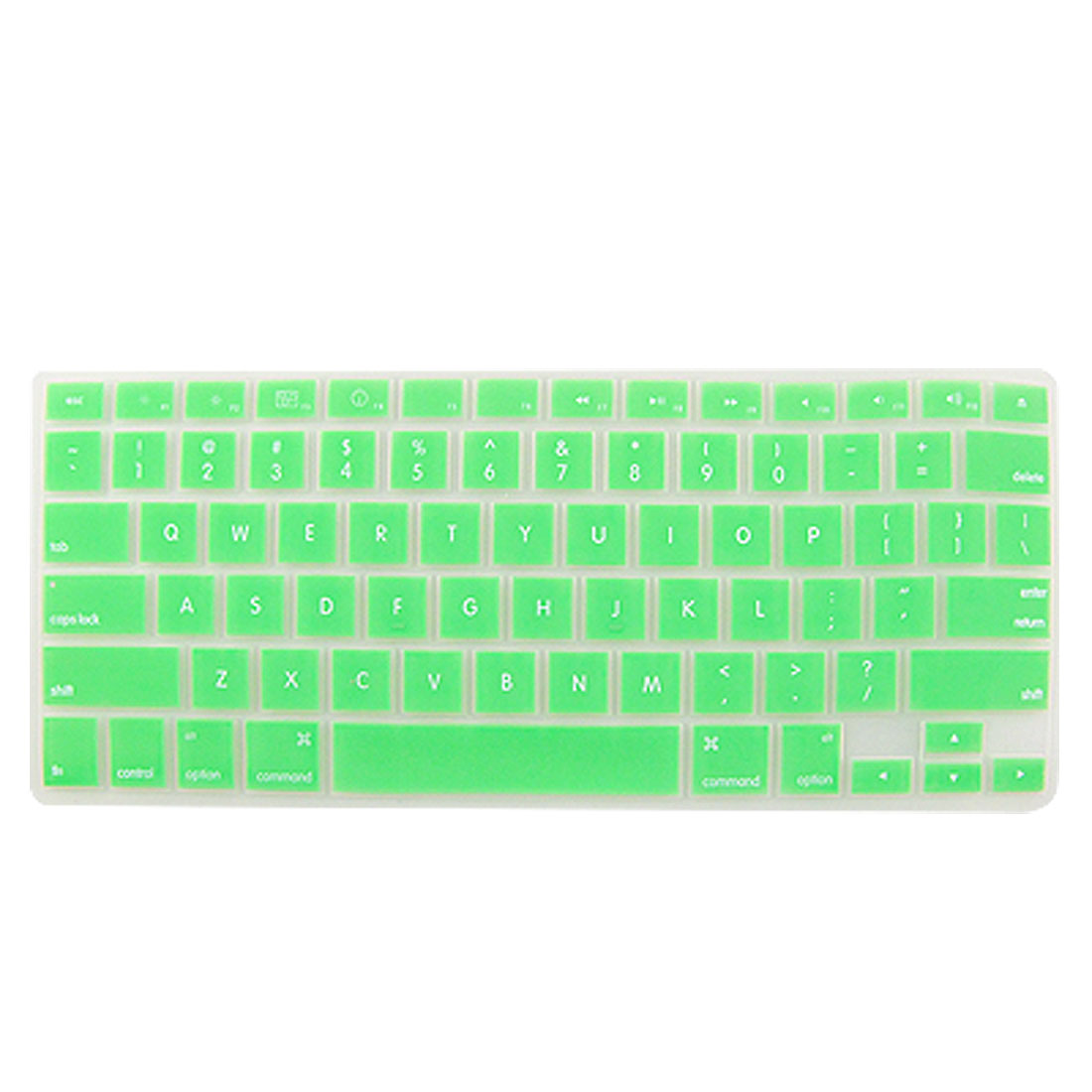 Green Flexible Silicone Skin Keyboard Cover for Apple Macbook Pro 13.3""