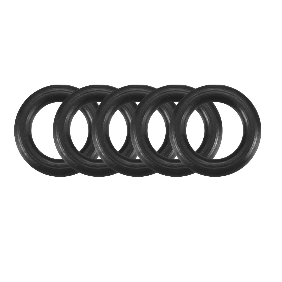 5 x 1mm Black Rubber Sealing O Ring Seal Washer Grommets 50 Pcs