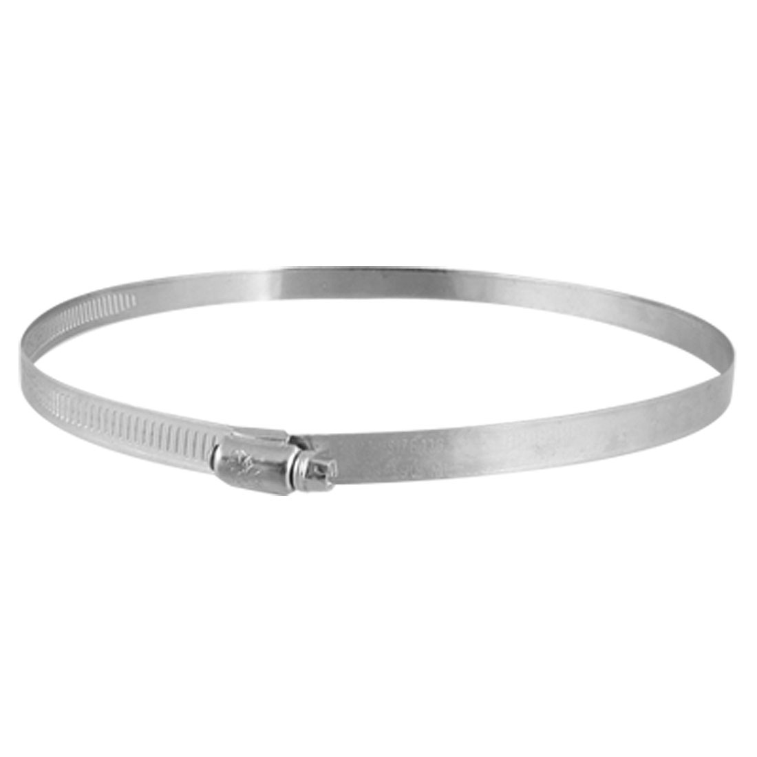 Silver Tone Stainless Steel 168-190mm Pipe Hose Clamp