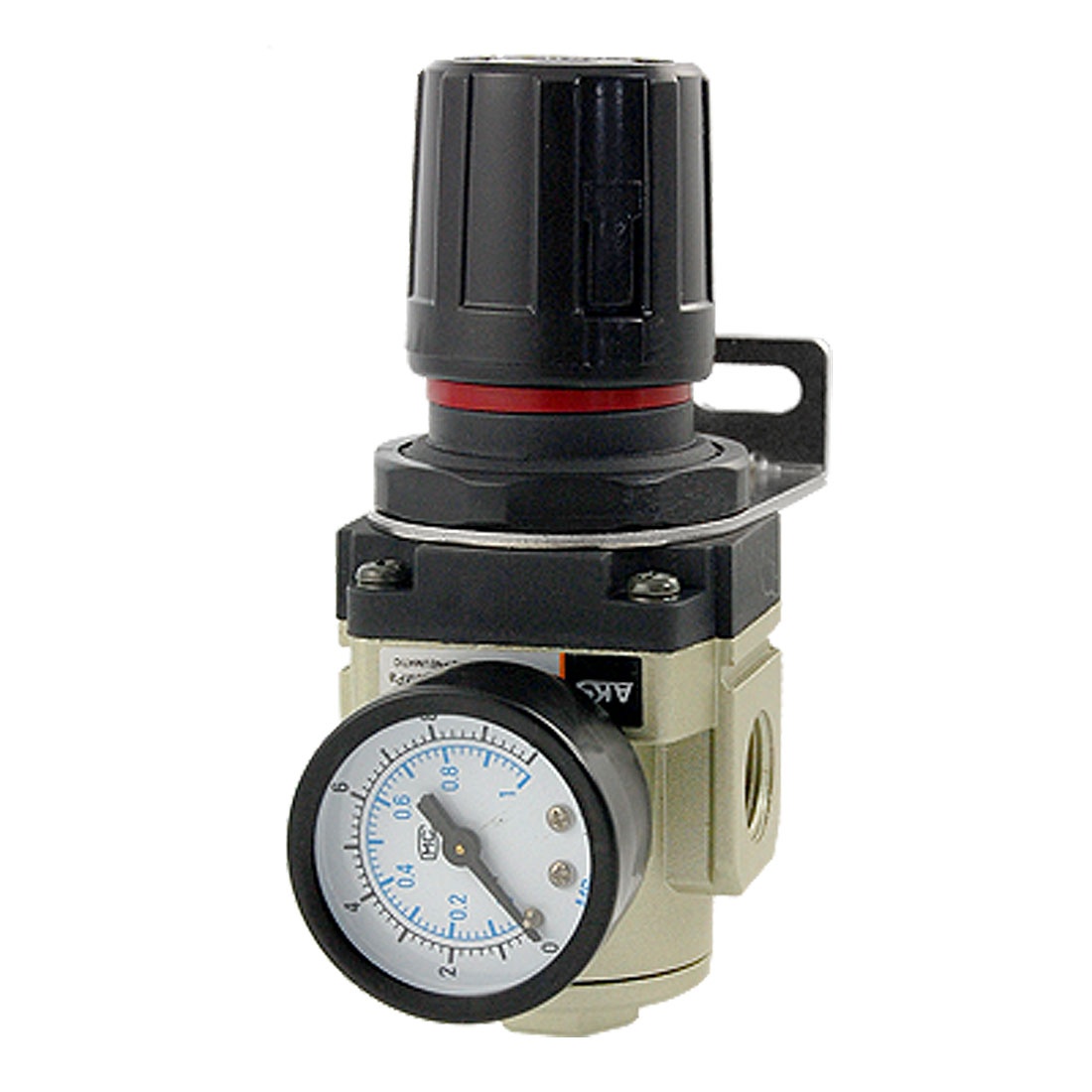 11/16 Air Compressor Pneumatic Pressure Regulator w Guage