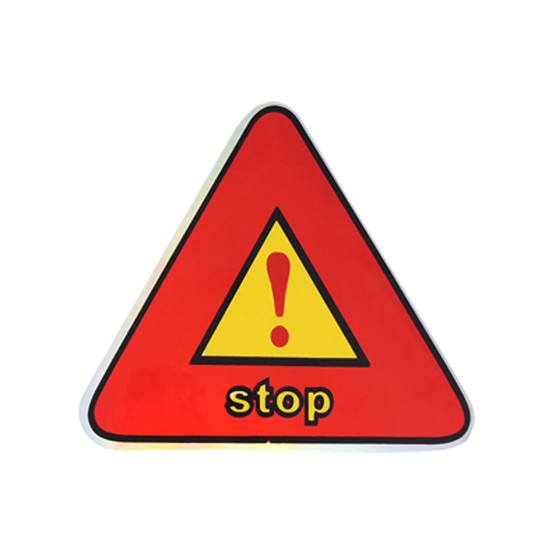 Car Auto Warning Stop Reflective Stickers Decals Red 3 Pcs