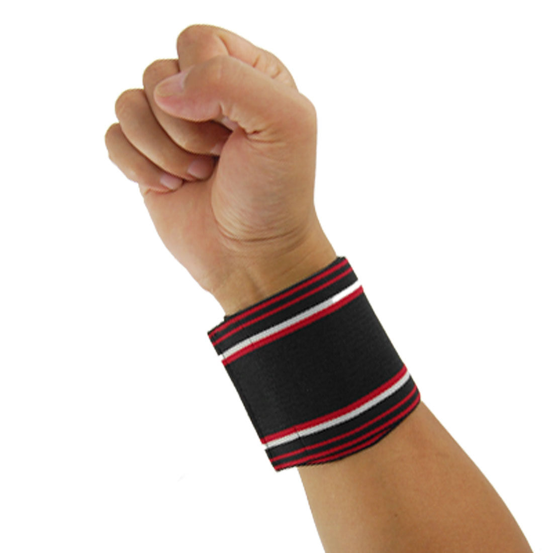 2 Pcs Hook And Loop Closure Elastic Wrist Band Support Protector