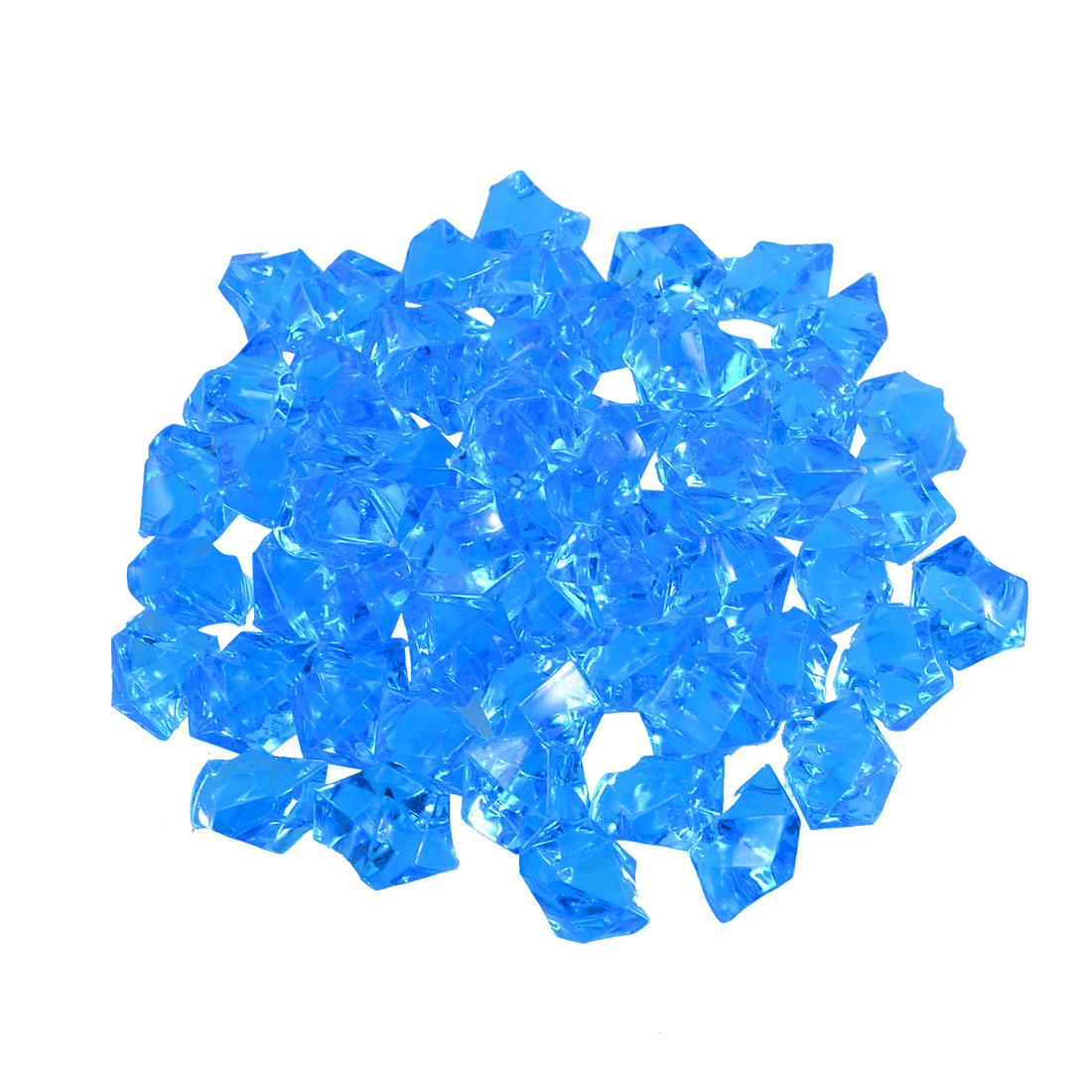 60 Pcs Blue Artifical Crystals Ornament for Fish Tank