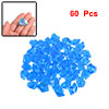 60 Pcs Blue Artifical Crystals Ornament for Fish Tank
