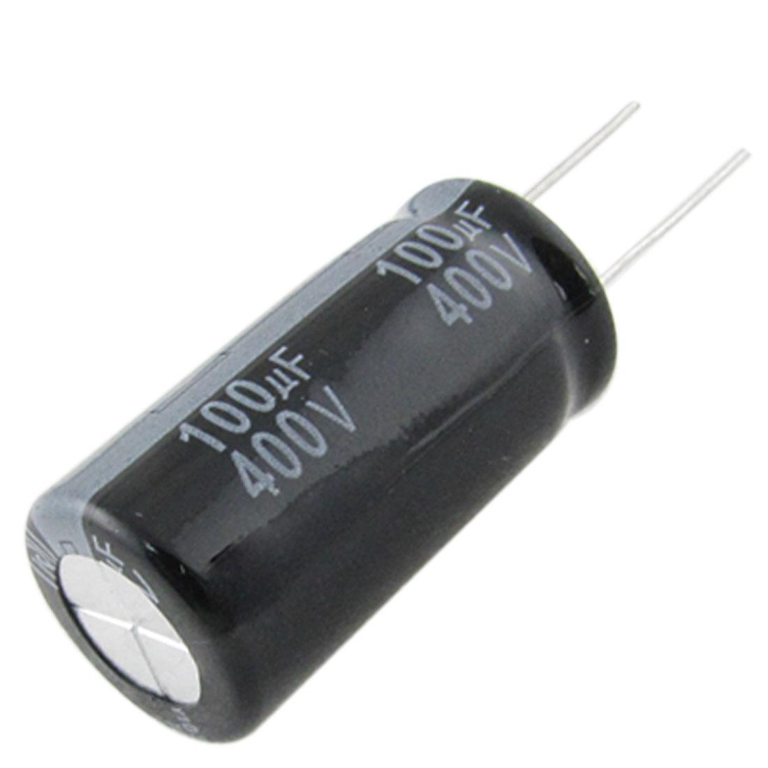10 Pcs 18x35mm 100uF 400V Polarized Aluminum Electrolytic Capacitors