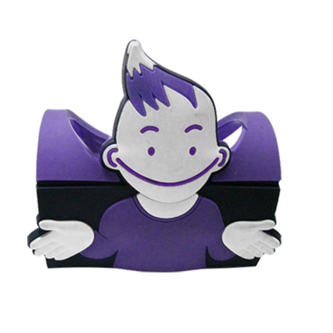 Cartoon Tabletop Rubber Mobile Phone Holder Purple