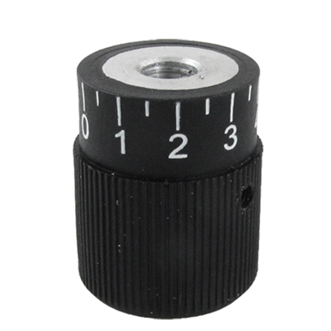 Mechanical 10mm Hole Diameter Scale Knurled Grip Graduation Knob