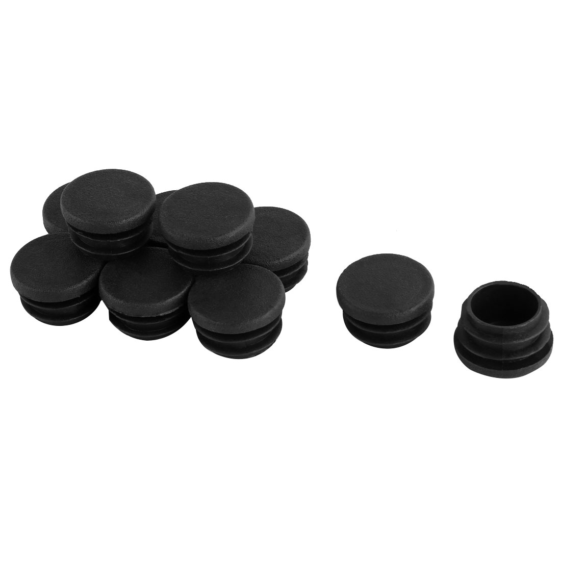 Furniture 25mm Diameter Black Plastic Screw Type Caps Covers 10 Pcs
