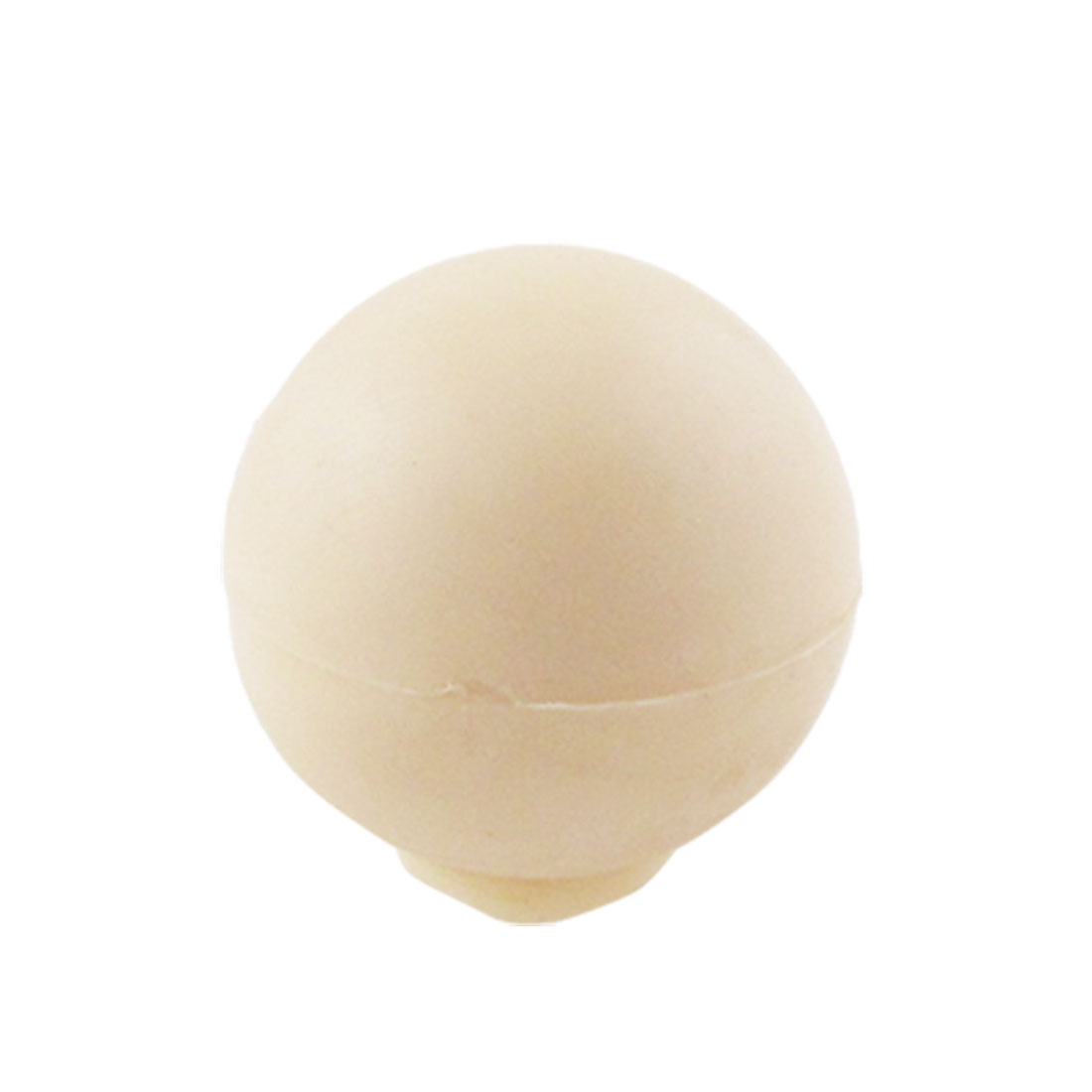 Ivory Plastic 7mm Moulded Threaded 25mm Diameter Ball Knob