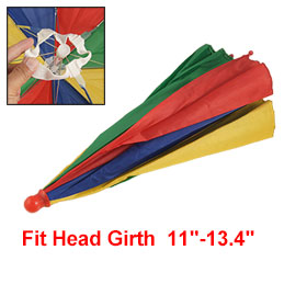 Elastic Head Band Colorful Umbrella Hat for Fishing
