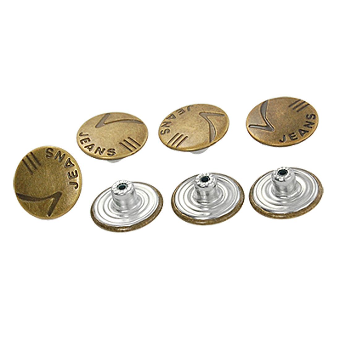 Replacement Denim Jacket Jeans Metal Tack Button Bronze Tone 7 Pcs
