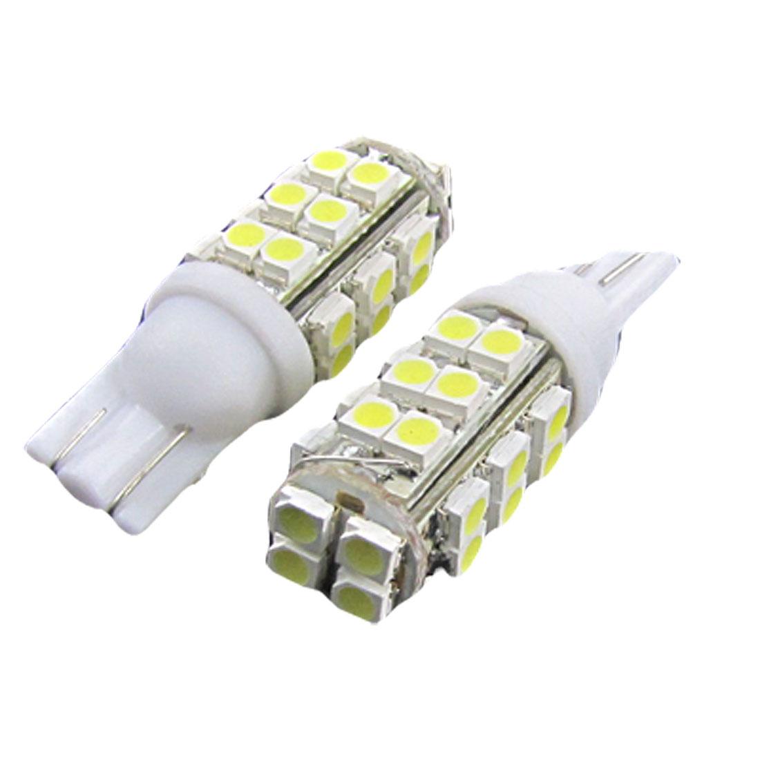 Car T10 W5W 28 1210 SMD LED White Signal Indicator Wedge Light Bulb 2 Pcs