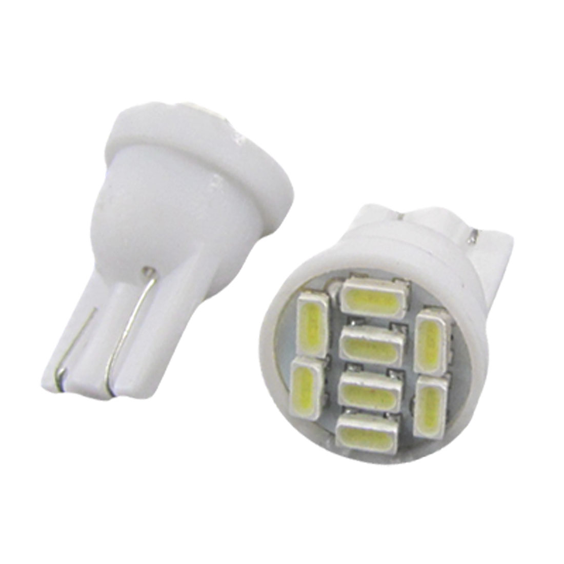 2 Pcs Car T10 W5W 8 1206 SMD LED White Wedge Sidelight Bulbs Lamp 12V