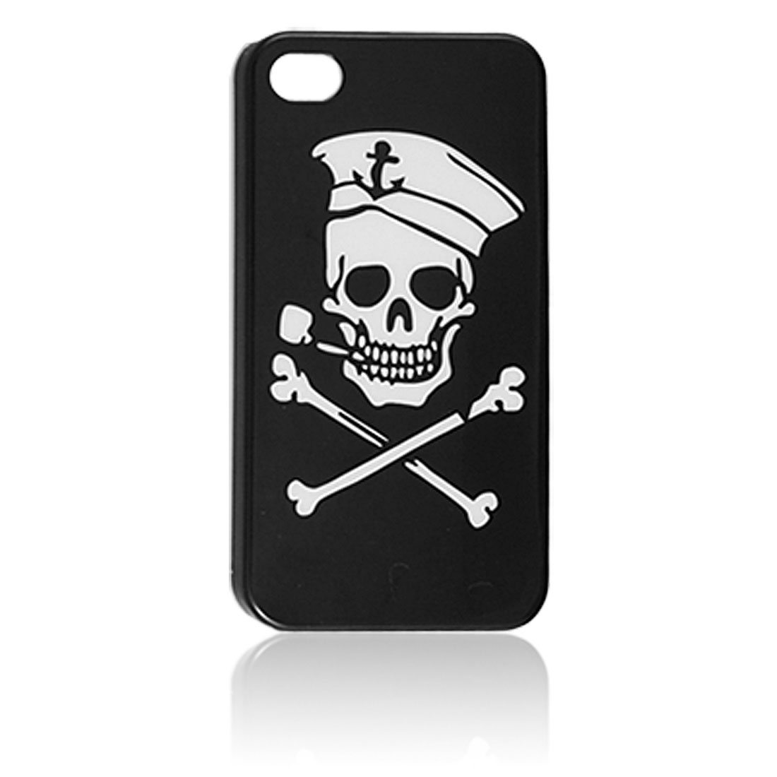 White Skull Pattern Hard Plastic Back Case Cover for iPhone 4 4G