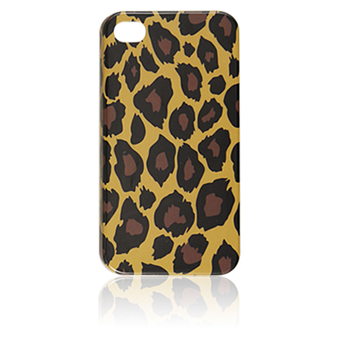 Leopard Pattern Hard Plastic Back Case Cover for iPhone 4 4G
