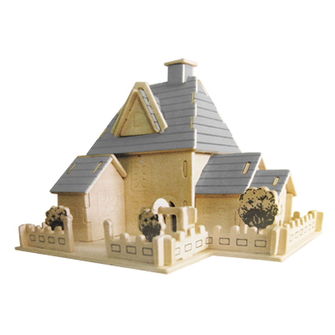 Sweet Dollhouse Wooden Educational Construction Toy 3D Jigsaw Puzzle
