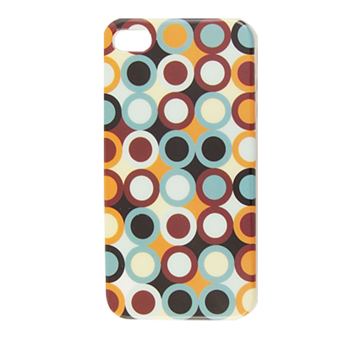 Hard Plastic Multicolor Dots IMD Back Case Cover for iPhone 4 4G