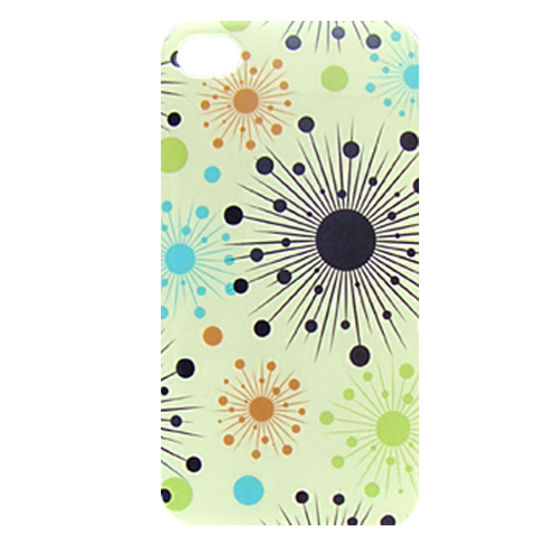 Hard Plastic IMD Sunshine Back Case Cover Pale Green for iPhone 4 4G
