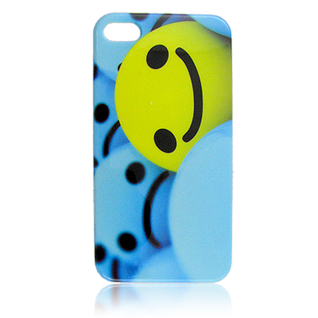 IMD Smiling Face Print Nonslip Side Back Cover for iPhone 4 4G