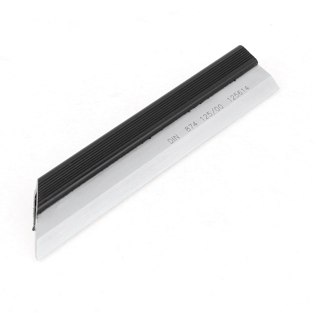 Silver Tone 125mm Cuttered Length Straight Edge Ruler Measure Tool