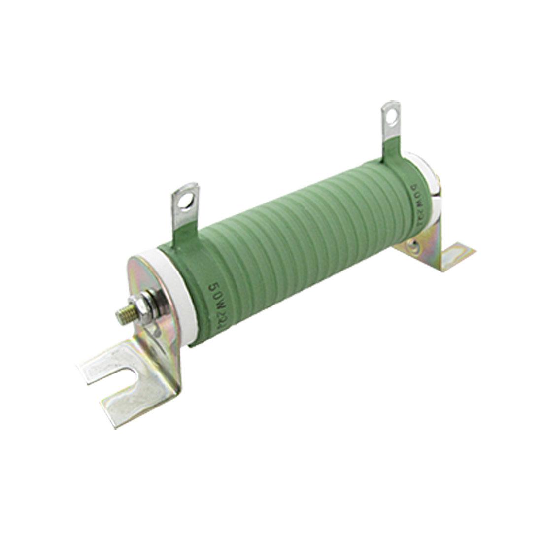 2 Ohm 50W Watt Wirewound Resistor Fixed Ceramic TubeResistor