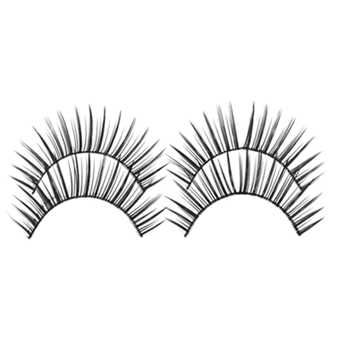 4 Pcs Black Thick Fake Eyelashes False Eye Lashes Strip