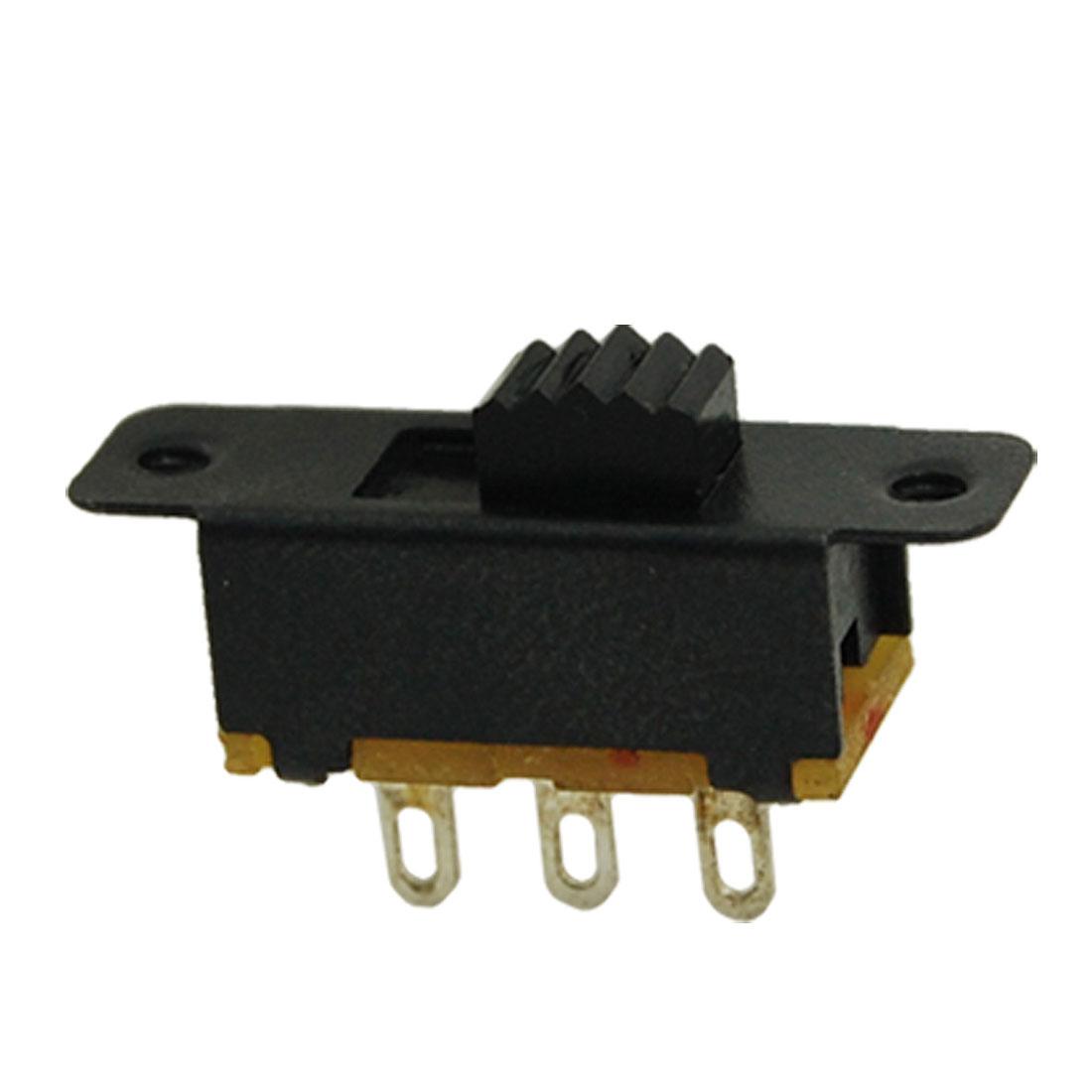 10 Pcs 3mm Height Knob 3 Pin 2 Position 1P2T SPDT Panel Slide Switch 0.5A 50V DC