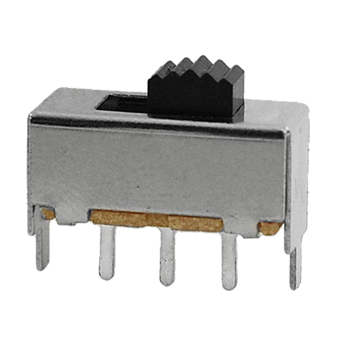 10pcs DC 50V 0.5A 2 Position 1P2T SPDT Miniature Vertical Slide Switch PCB