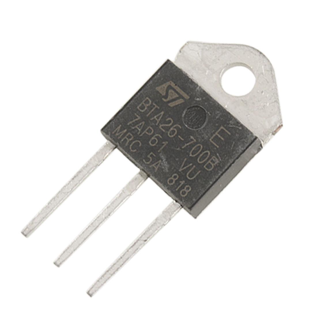 BTA26-700B 700V 25A 3 Pin Terminals Standard Triacs Thyristor TOP3