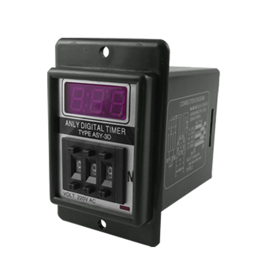 AC 220V Panel Mounting 0-999 Minute Range 3 Digits Digital Time Relay