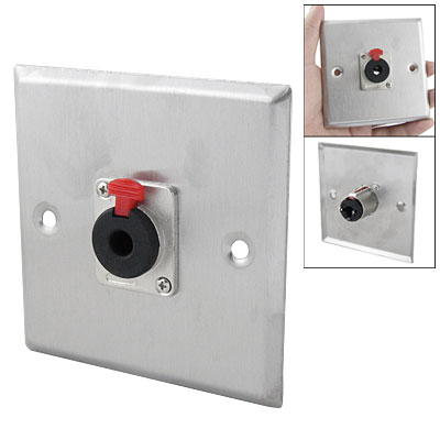 "1/4"" TRS Female Plug Jack Socket Audio Mic Connector Adapter Wall Plate"