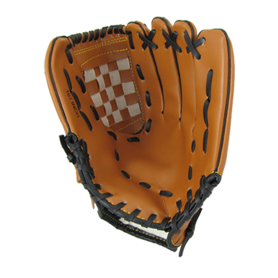 Youth Softball Baseball Left Handed Faux Leather Glove Brown