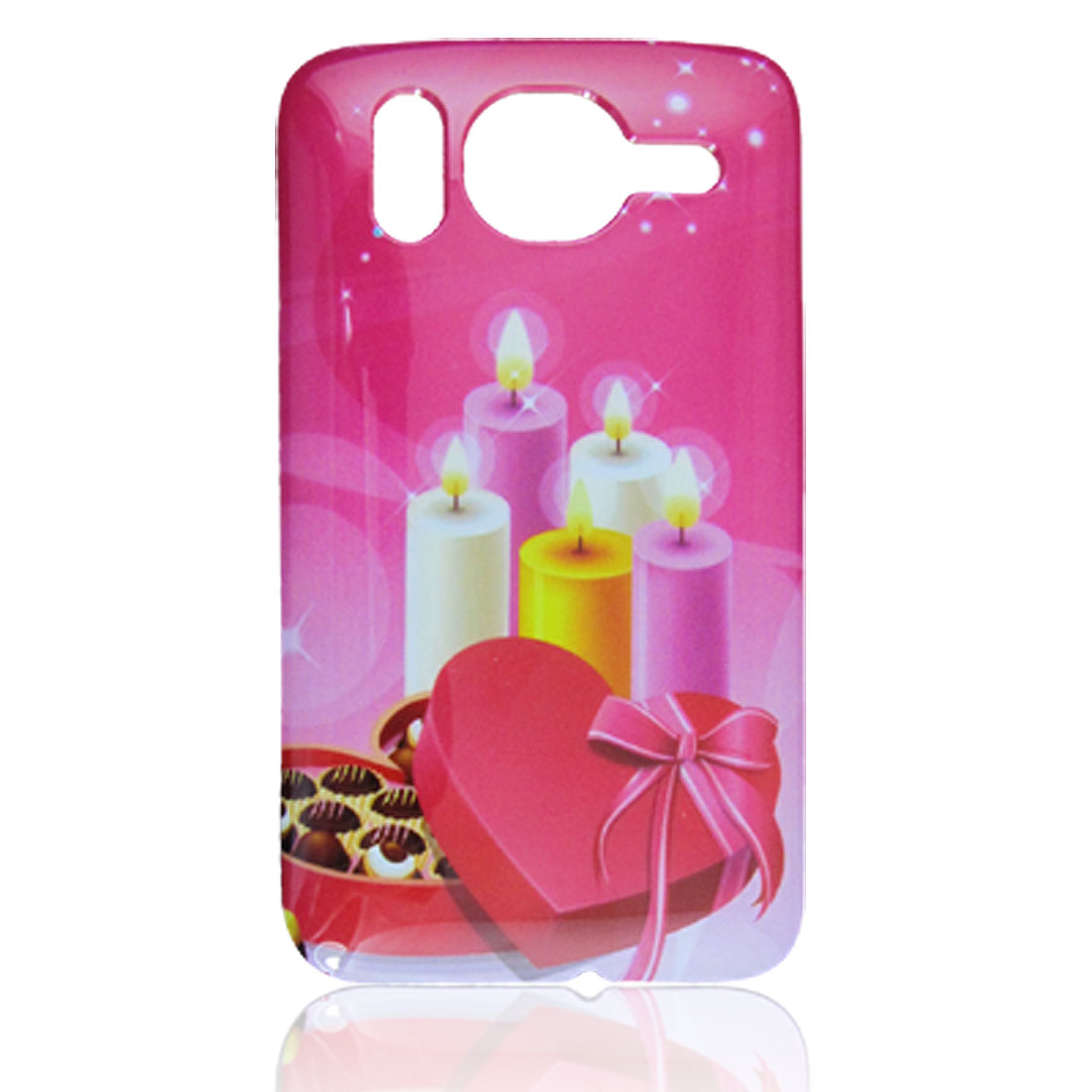 Gift Candle Print Hard Plastic IMD Back Cover for HTC Desire HD G10