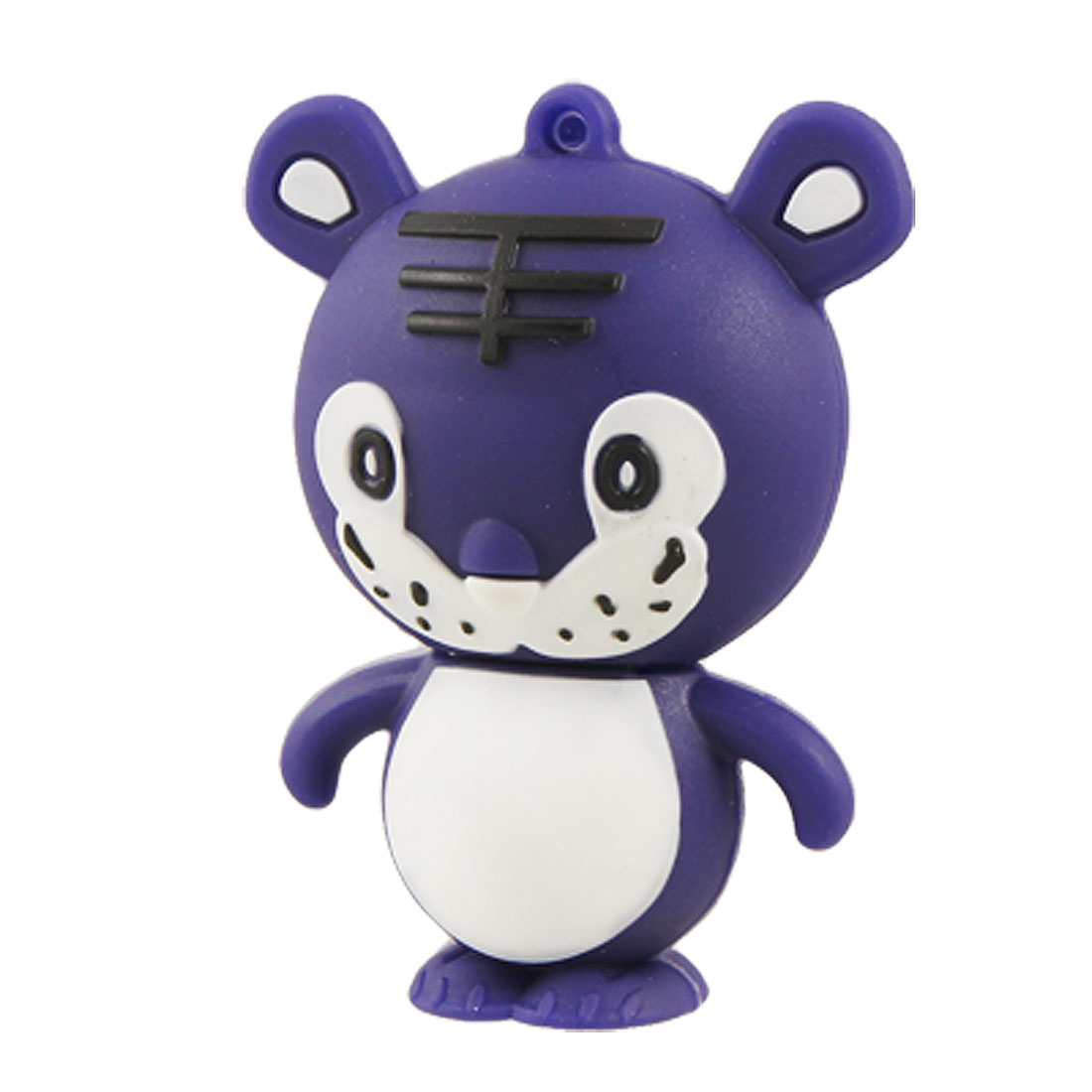 USB 2.0 Puple White Tiger Shape T-Flash Memory Card Reader
