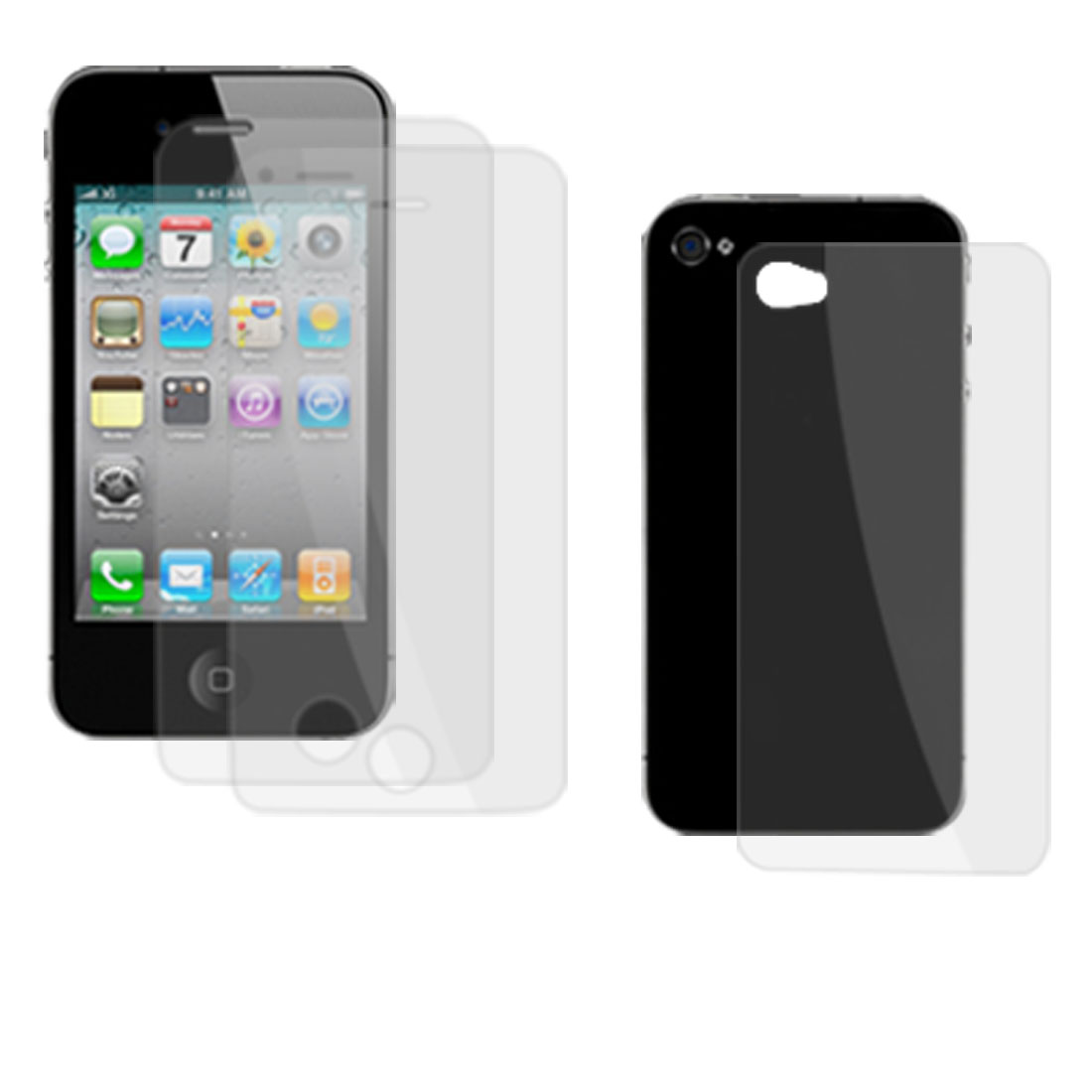 3 Pcs Anti Glare Clear LCD Screen Protectors Cover for iPhone 4 4G
