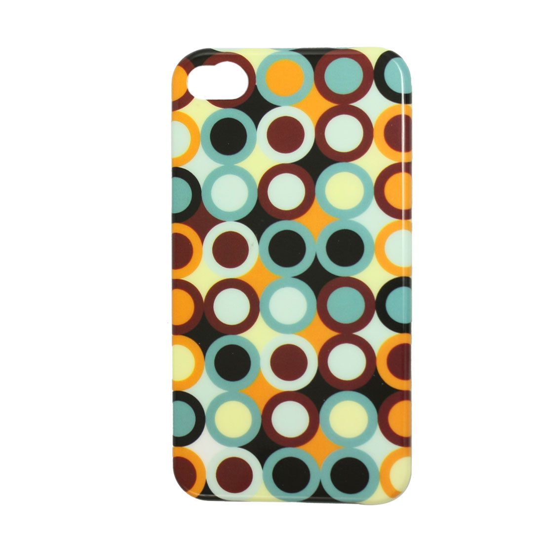 Colorful Circles Hard Plastic IMD Back Case for iPhone 4 4G