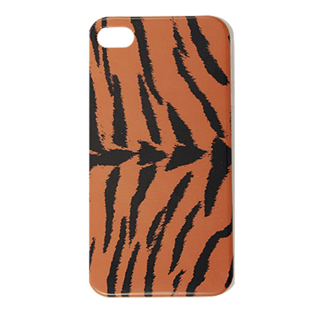 Brown Black IMD Leopard Print Plastic Cover for iPhone 4 4G