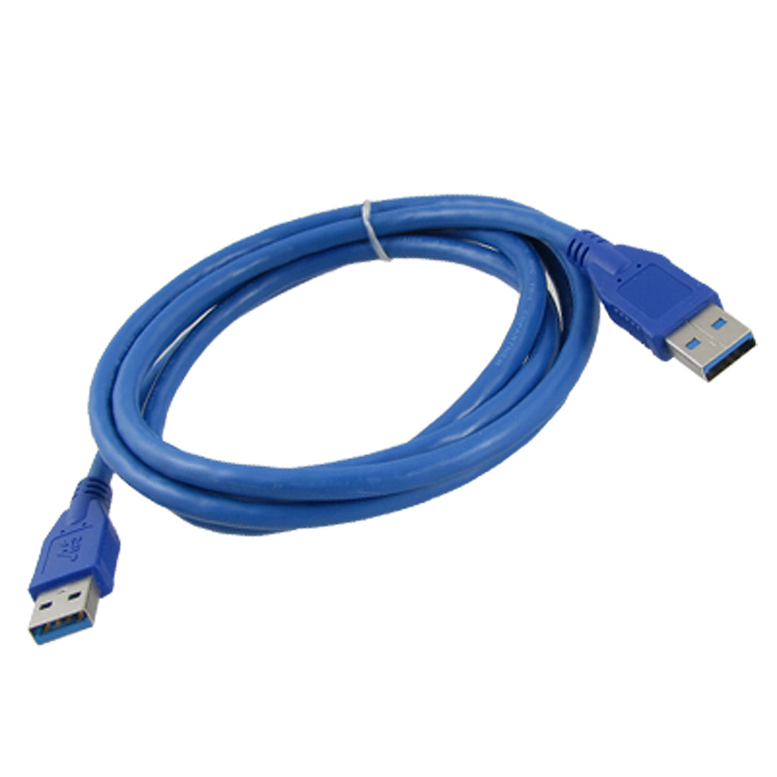 Blue Flexible USB 3.0 Type A Male to Male Cable Connector 1.5M