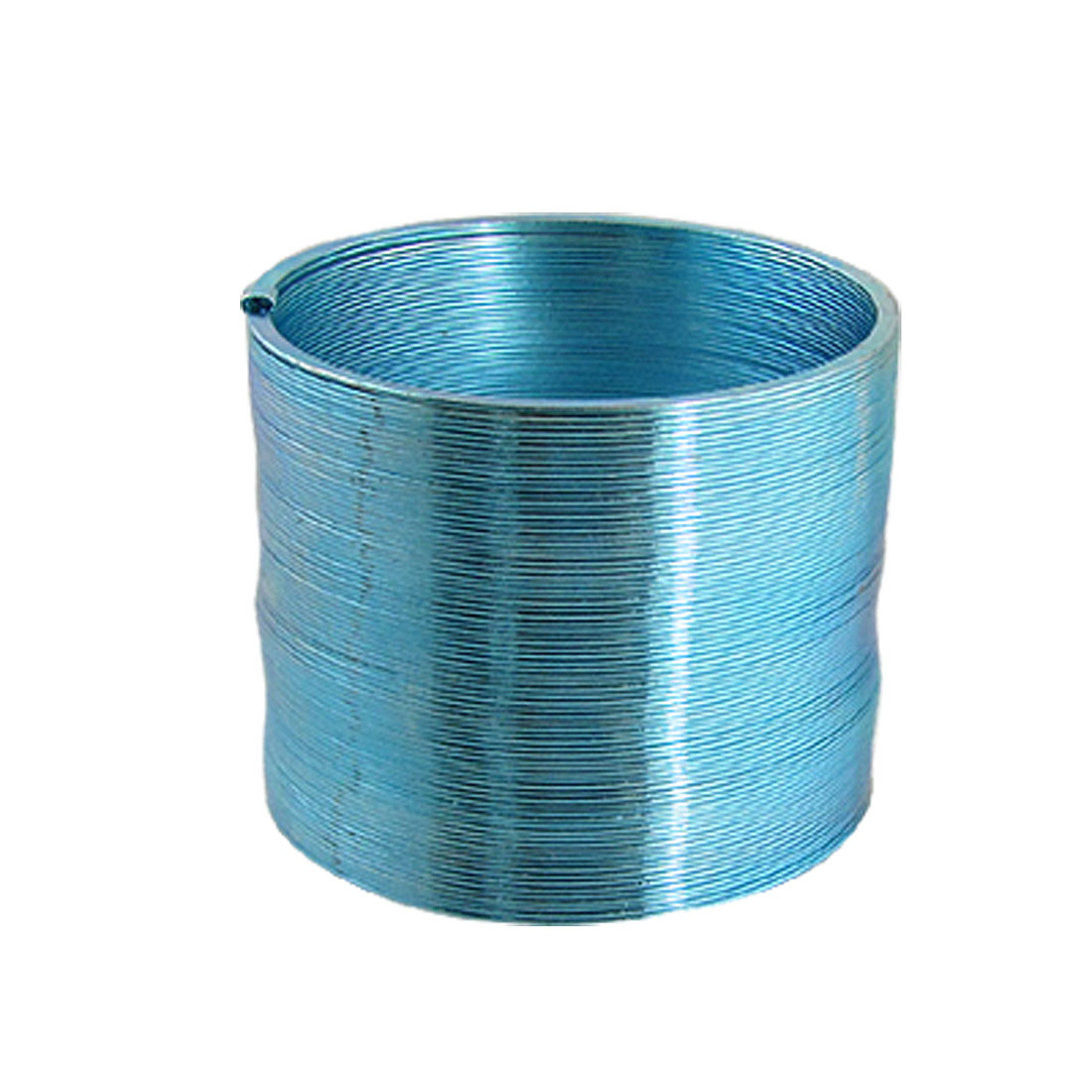 Shiny Blue Metal Round Slinky Magic Spring Classic Toy