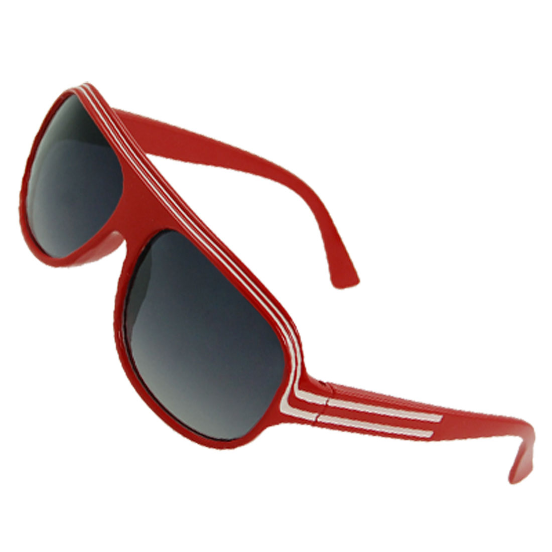 Red Plastic Full Rim Gradient Lens Sunglasses for Children