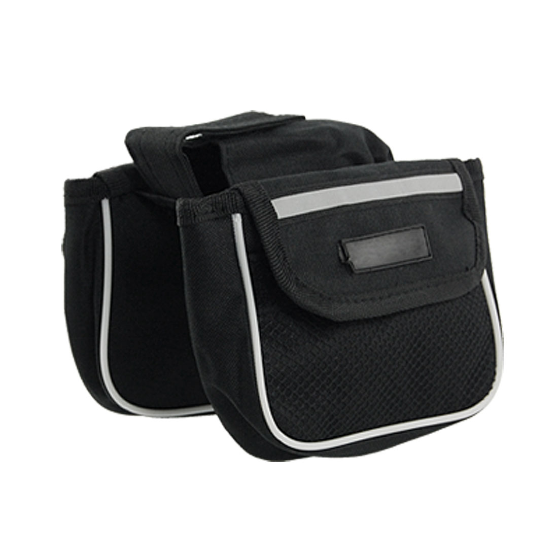 Cycling Bike Bicycle Front Tube 2 in 1 Black Flap Bag