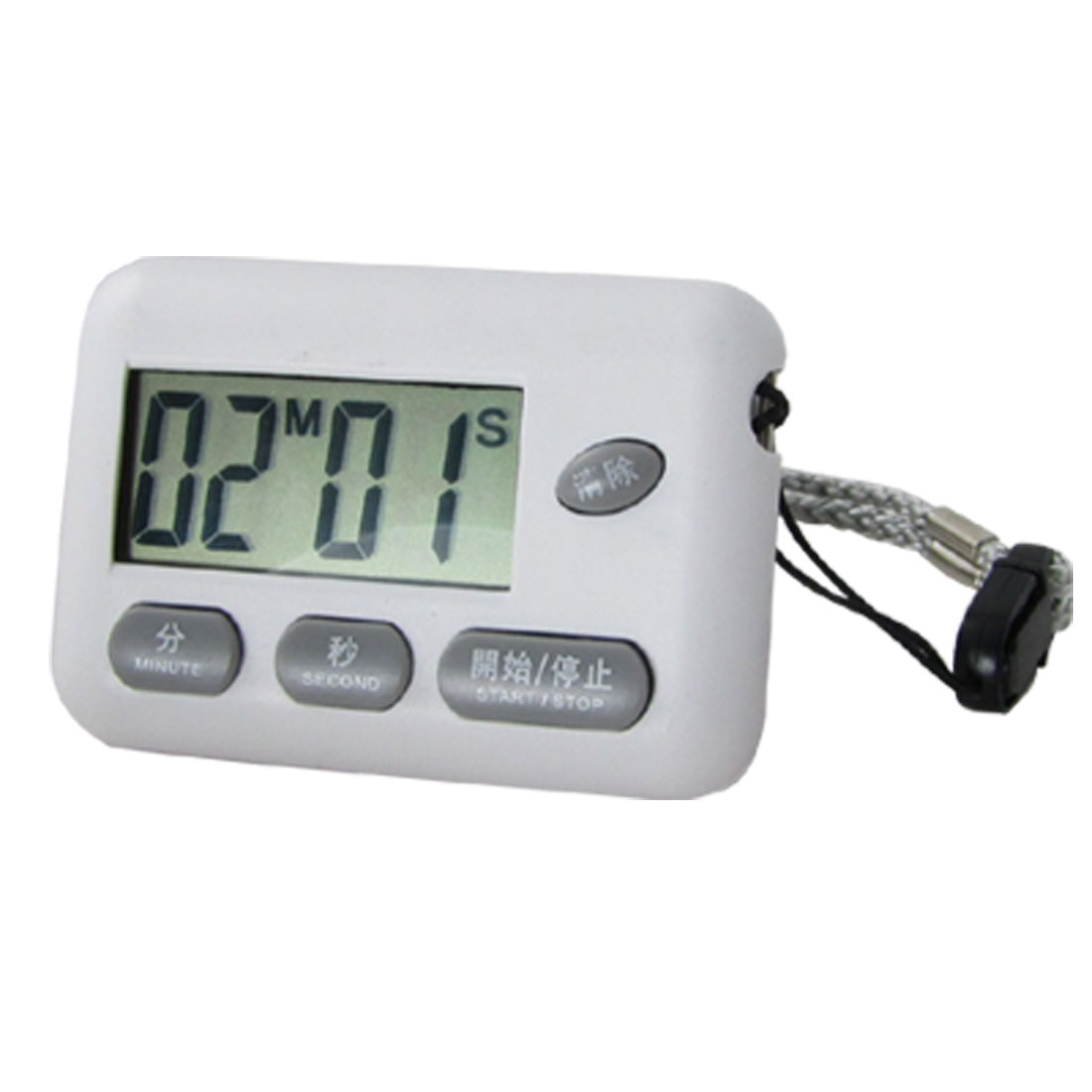 Home Kitchen Sports LCD Digital Count Up Down Timer Alarm w Strap