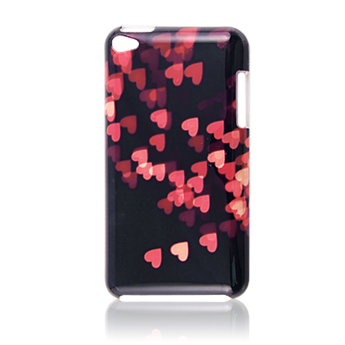 IMD Multi Red Hearts Print Plastic Back Cover for iPod Touch 4G