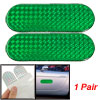 2 Pcs Auto Car Safety Reflective Green Light Stickers Decals
