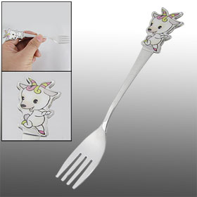 White Sheep Shaped Cartoon Stainless Steel Utensil Cutlery Fork