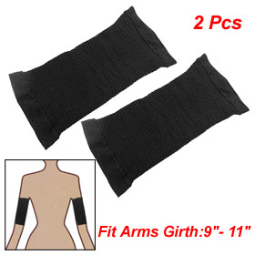 2 Pcs Fat Calorie Off Massage Slimming Shaper Black for Arms