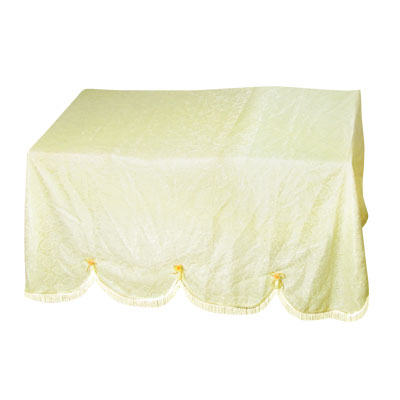 Piano Bench Rosette Lace Overlay 1.8m x 1.4m Full Cover