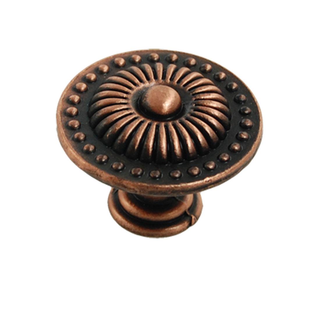 Flower Brass Drawer Cupboard Pull Knob Handle Hardware