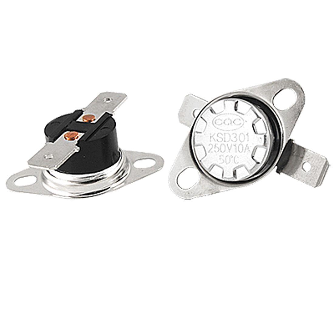 5 x KSD301 Temperature Control Switch Thermostat 50 Celsius N.C